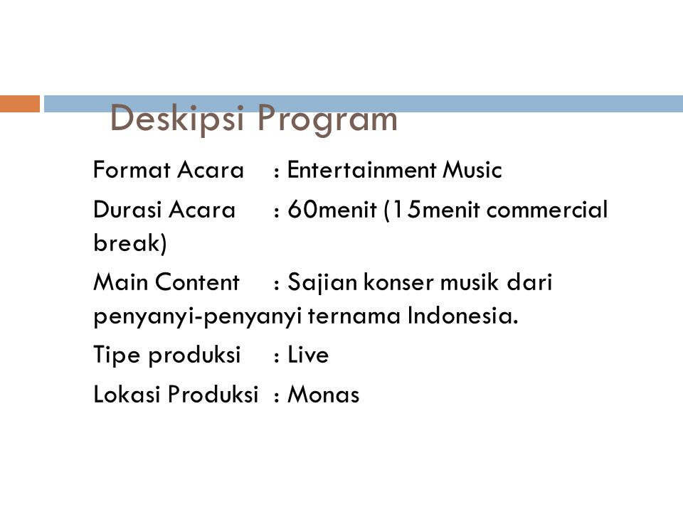 Deskipsi Program