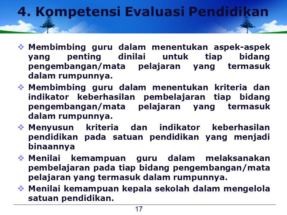 4. Kompetensi Evaluasi Pendidikan
