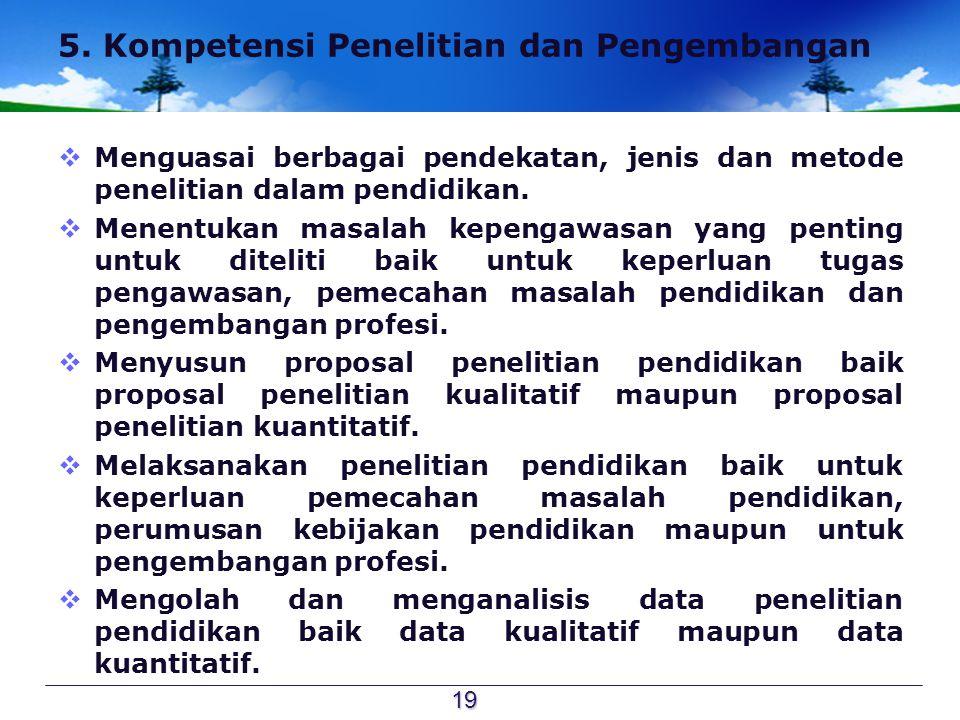 5. Kompetensi Penelitian dan Pengembangan