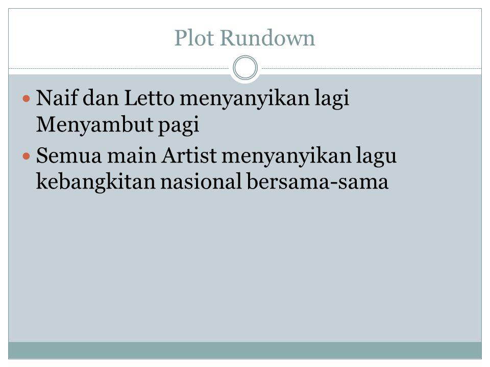 Plot Rundown Naif dan Letto menyanyikan lagi Menyambut pagi