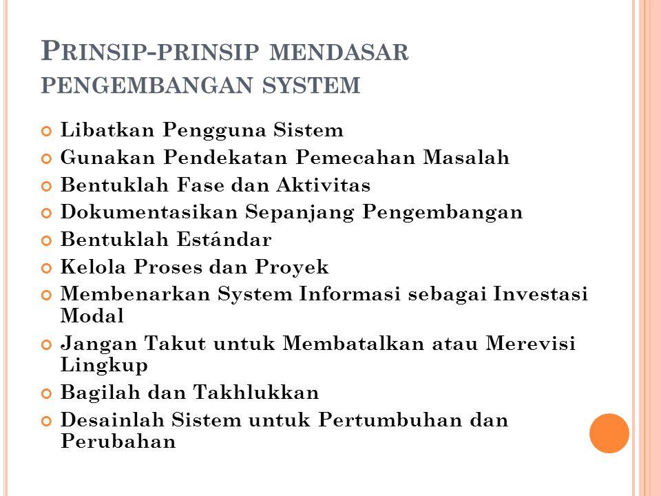 Prinsip-prinsip mendasar pengembangan system