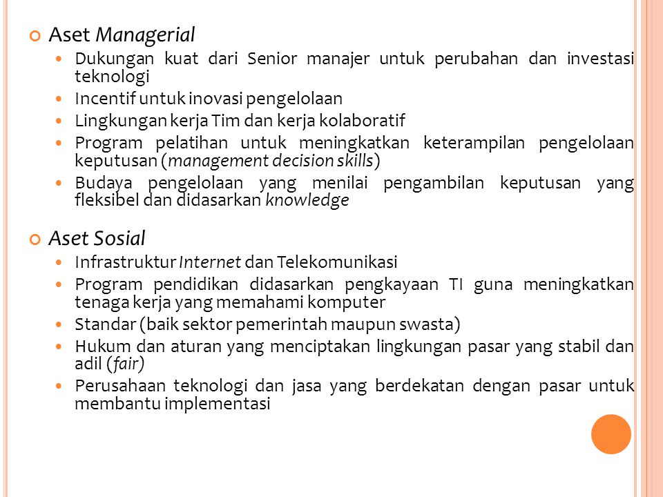 Aset Managerial Aset Sosial