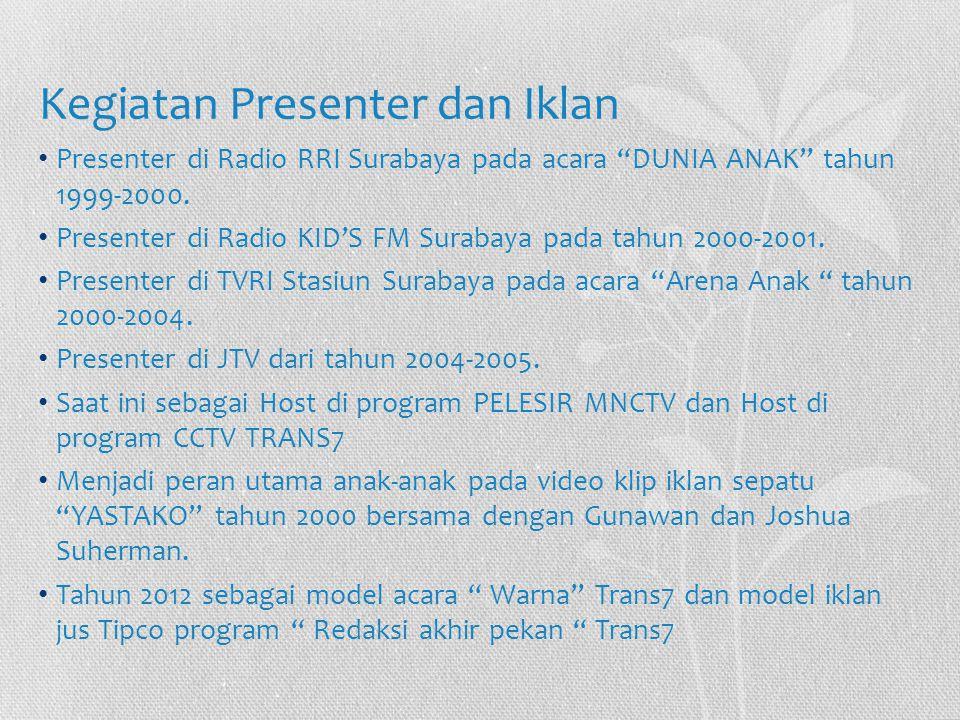 Kegiatan Presenter dan Iklan