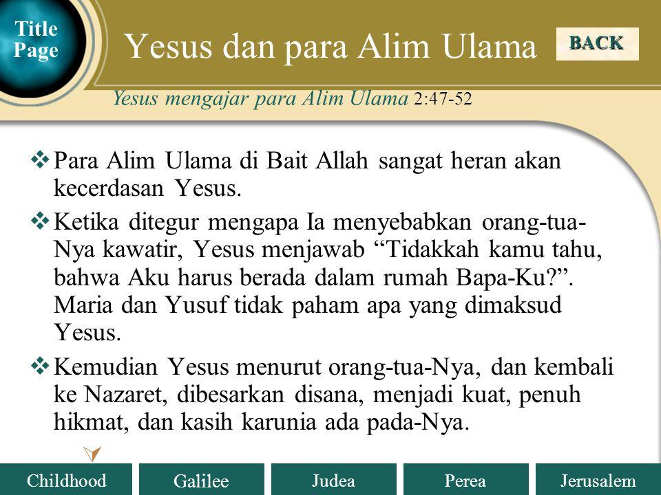 Yesus dan para Alim Ulama