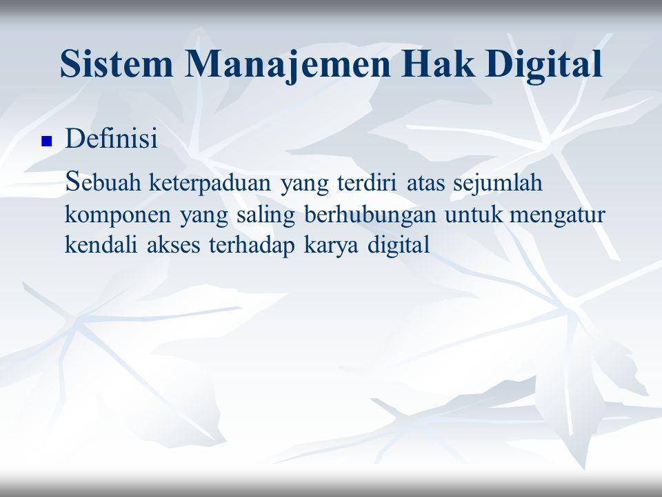 Sistem Manajemen Hak Digital