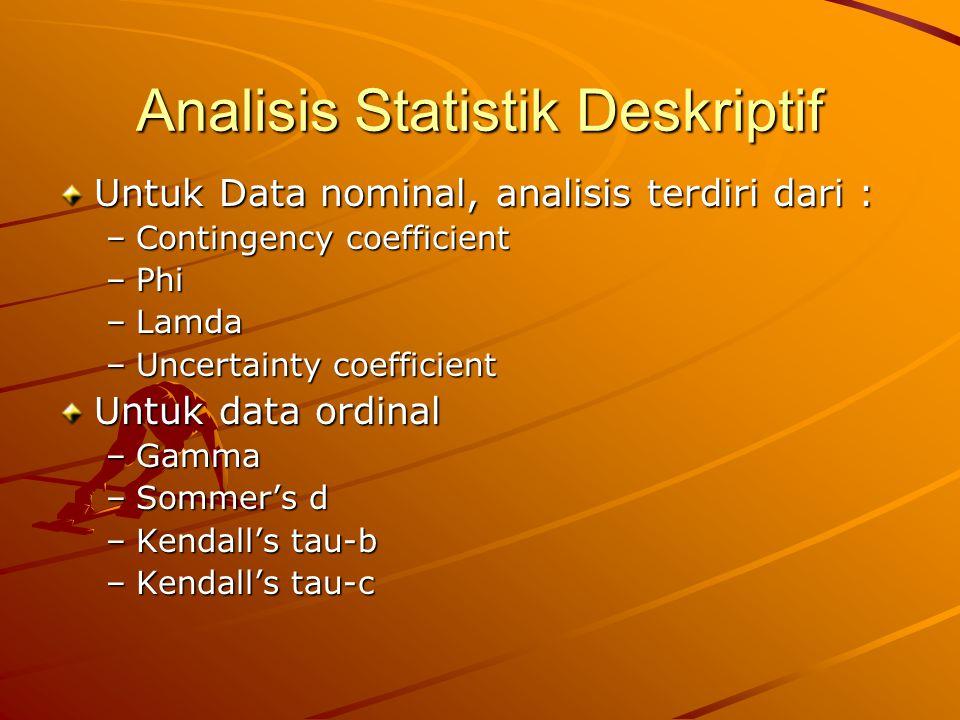 Analisis Statistik Deskriptif
