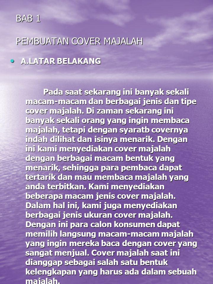 BAB 1 PEMBUATAN COVER MAJALAH