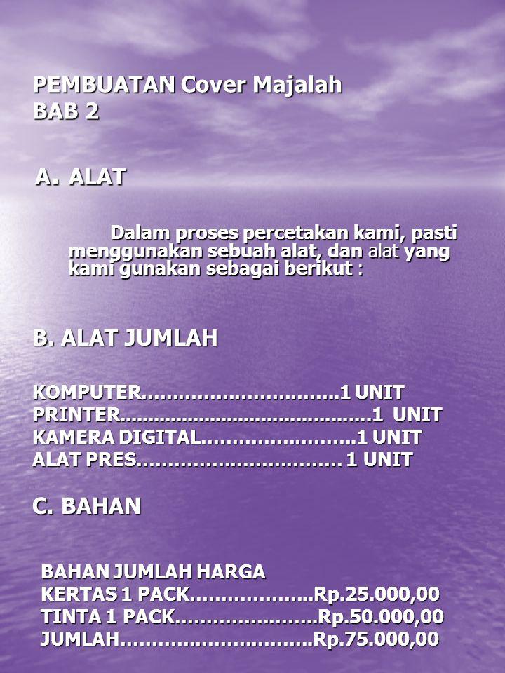PEMBUATAN Cover Majalah BAB 2