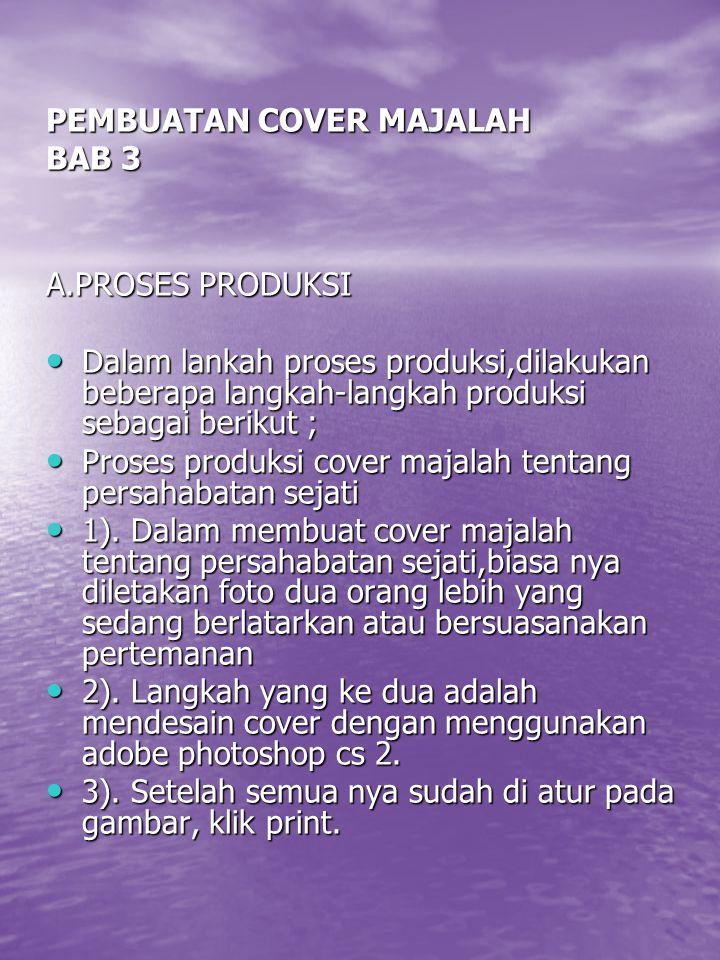 PEMBUATAN COVER MAJALAH BAB 3