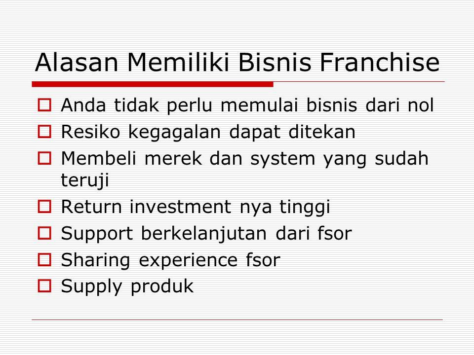 Alasan Memiliki Bisnis Franchise