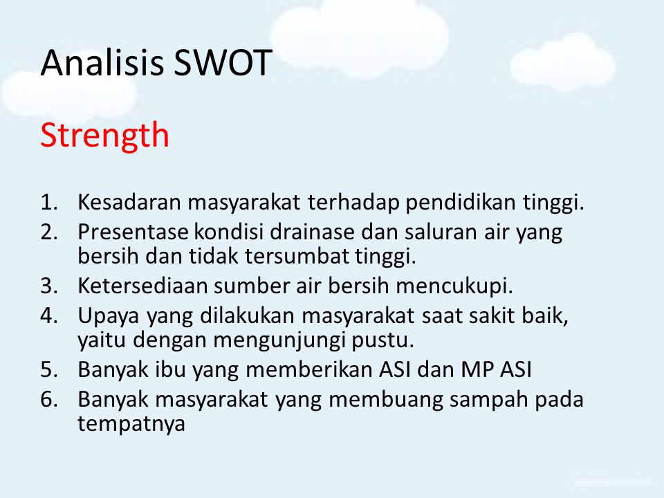 Analisis SWOT Strength