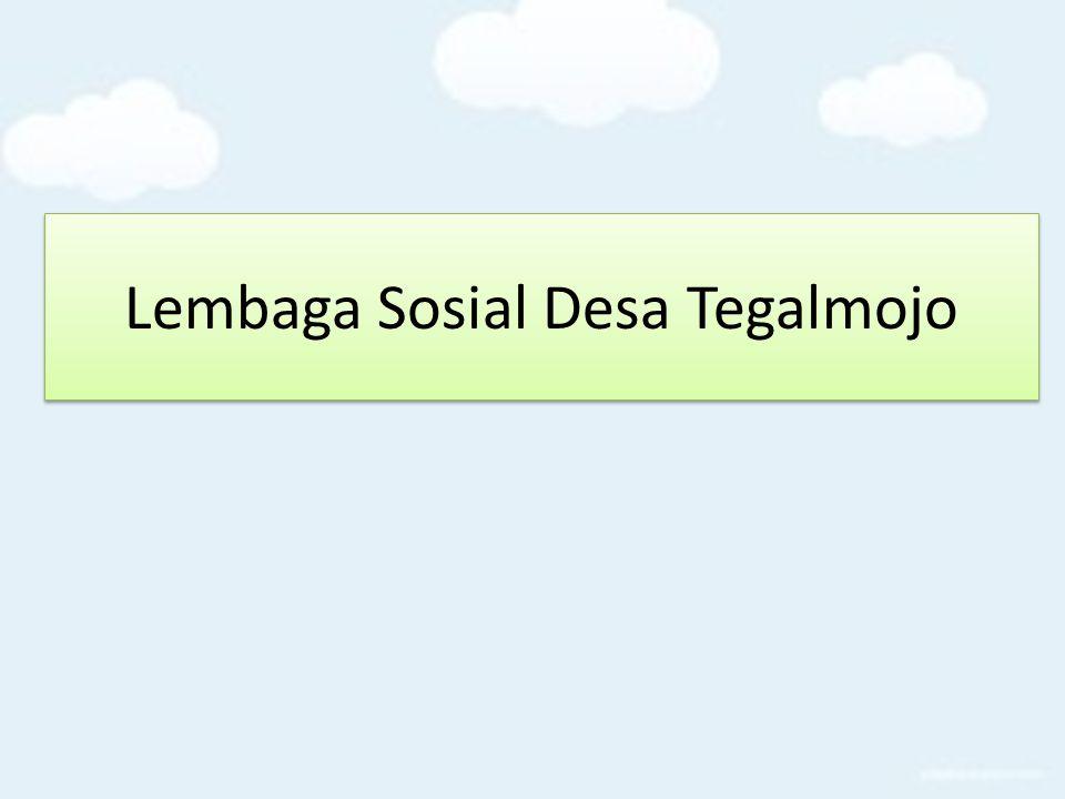 Lembaga Sosial Desa Tegalmojo