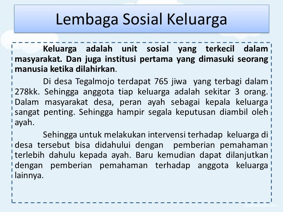 Lembaga Sosial Keluarga