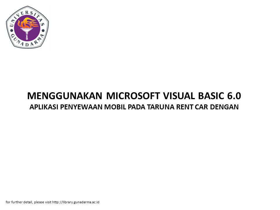 MENGGUNAKAN MICROSOFT VISUAL BASIC 6