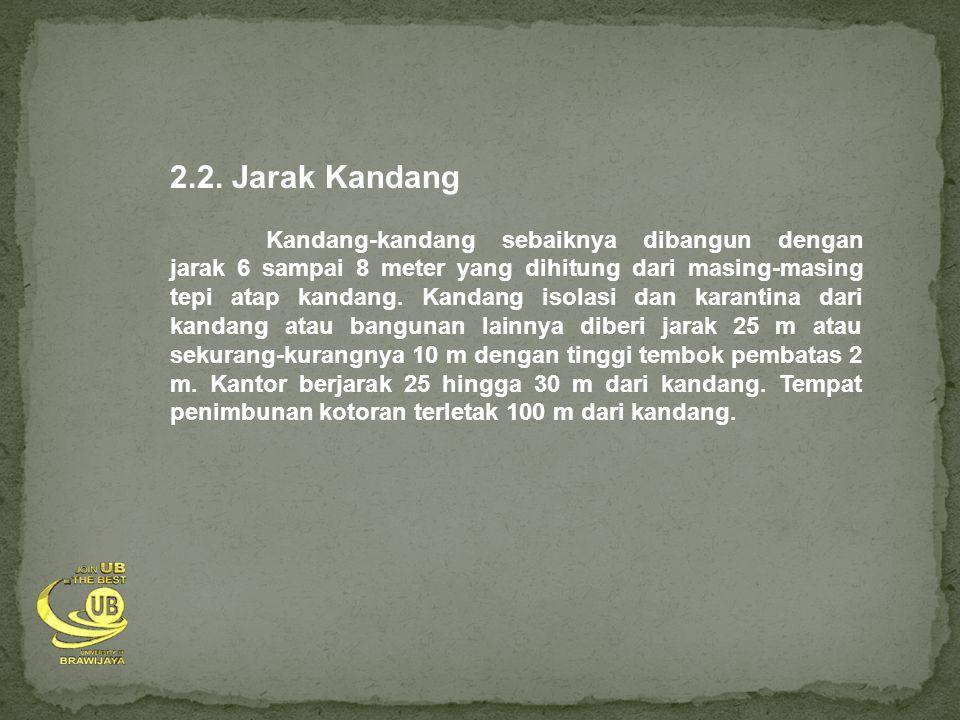 2.2. Jarak Kandang