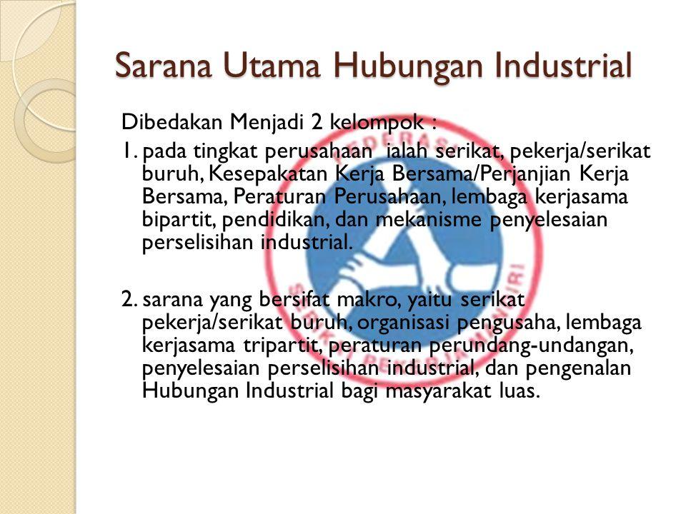 Sarana Utama Hubungan Industrial