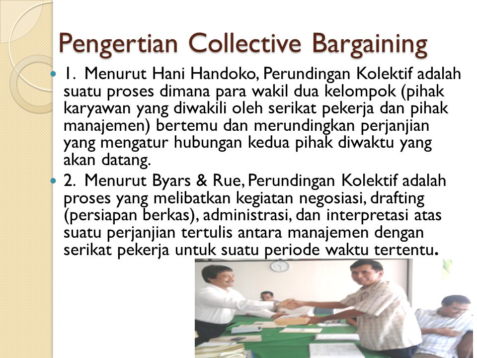 Pengertian Collective Bargaining