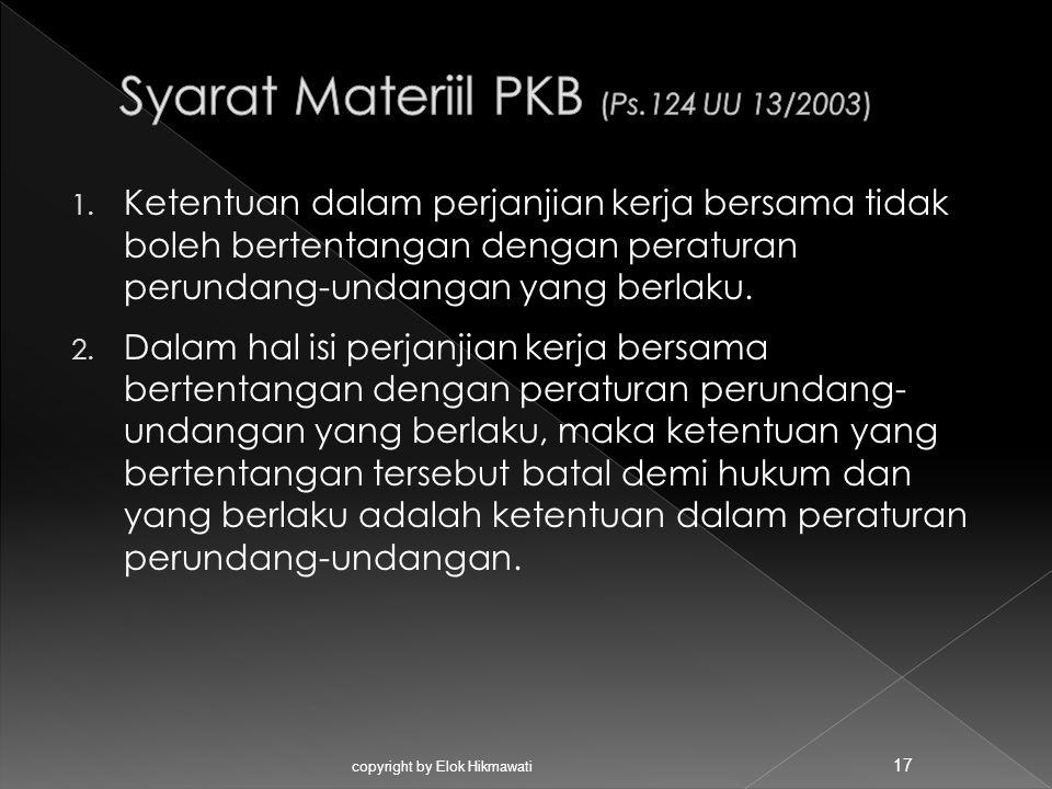 Syarat Materiil PKB (Ps.124 UU 13/2003)