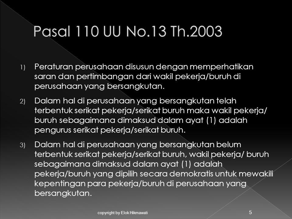 Pasal 110 UU No.13 Th.2003