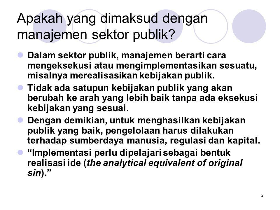 Apakah yang dimaksud dengan manajemen sektor publik