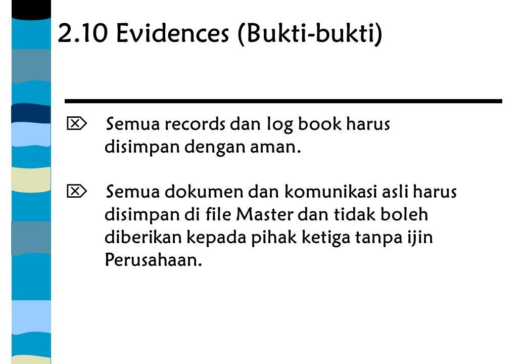 2.10 Evidences (Bukti-bukti)