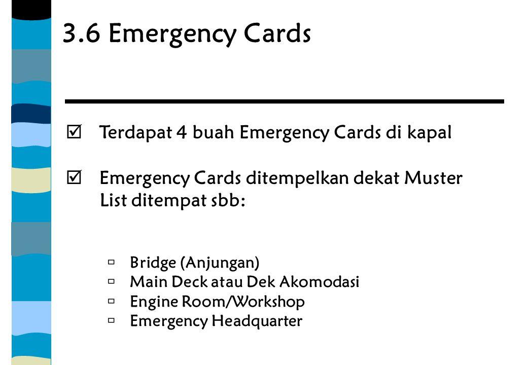 3.6 Emergency Cards Terdapat 4 buah Emergency Cards di kapal