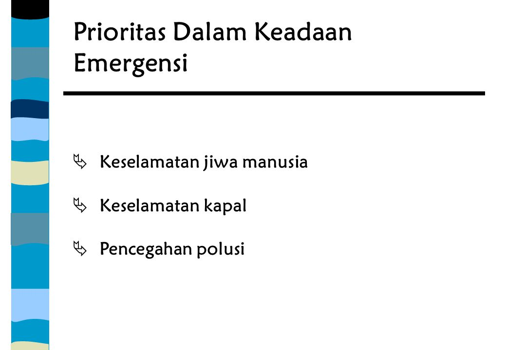 Prioritas Dalam Keadaan Emergensi