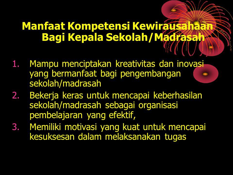 Manfaat Kompetensi Kewirausahaan Bagi Kepala Sekolah/Madrasah