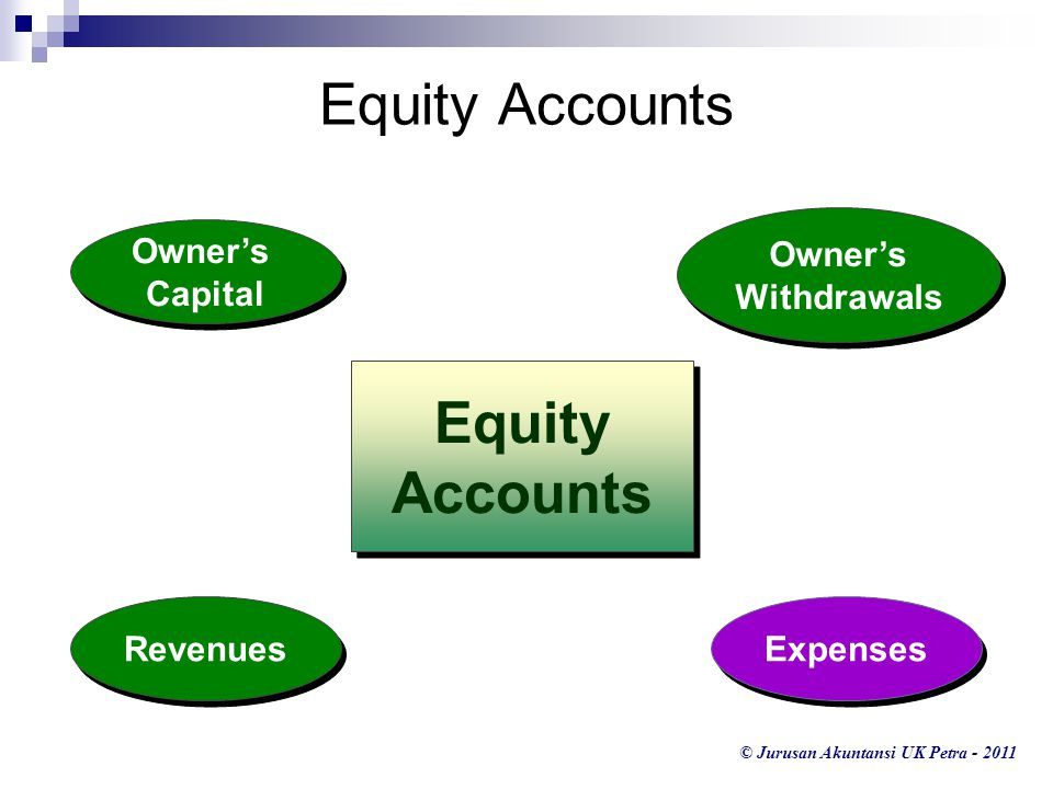 Equity Accounts Equity Accounts Owner's Withdrawals Owner's Capital