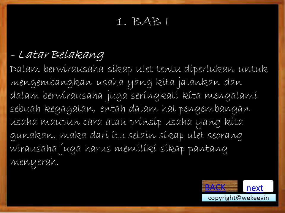 BAB I - Latar Belakang.