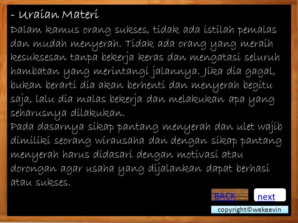 - Uraian Materi