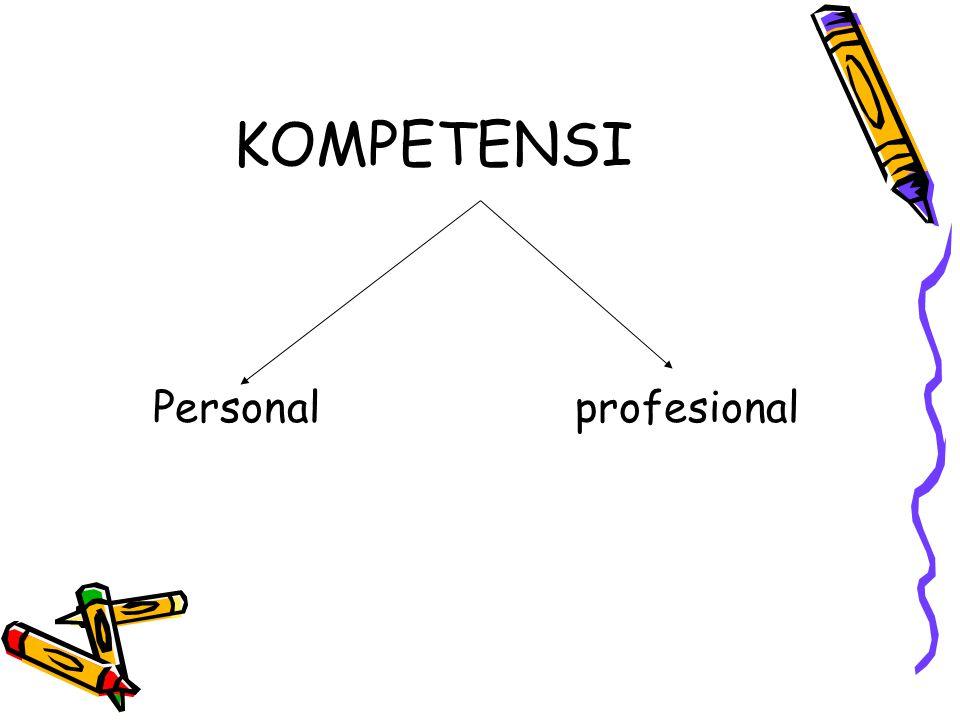 KOMPETENSI Personal profesional