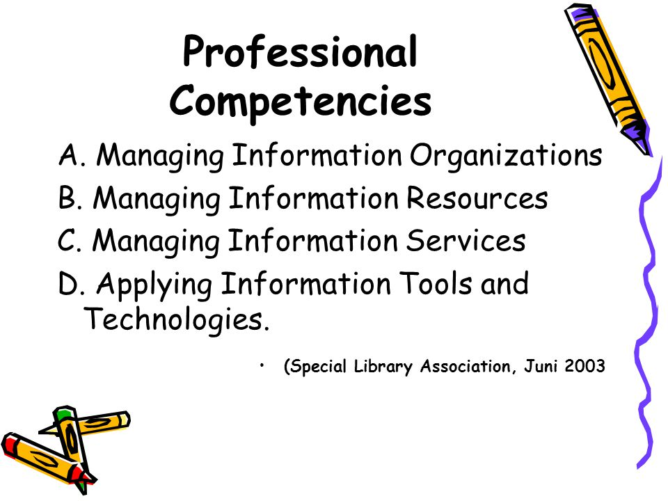 Professional Competencies