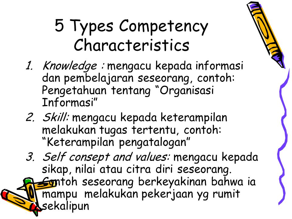 5 Types Competency Characteristics