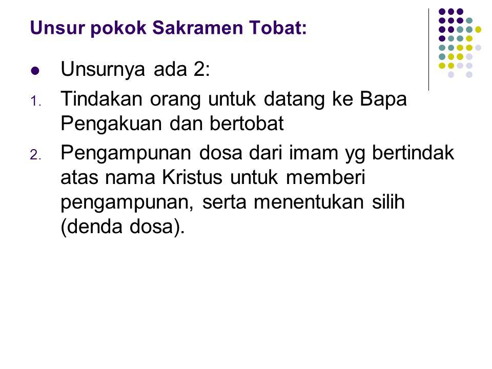 Unsur pokok Sakramen Tobat: