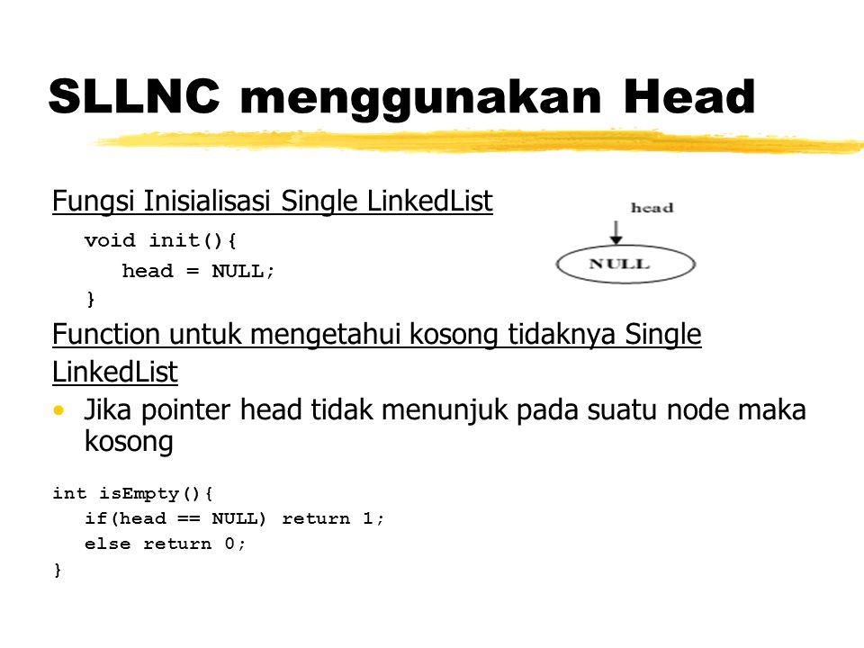 SLLNC menggunakan Head