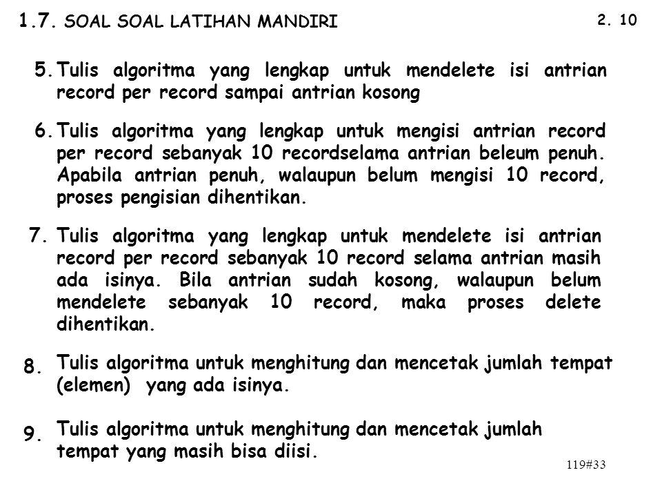 1.7. SOAL SOAL LATIHAN MANDIRI