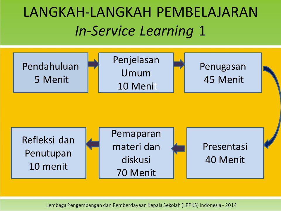 LANGKAH-LANGKAH PEMBELAJARAN In-Service Learning 1