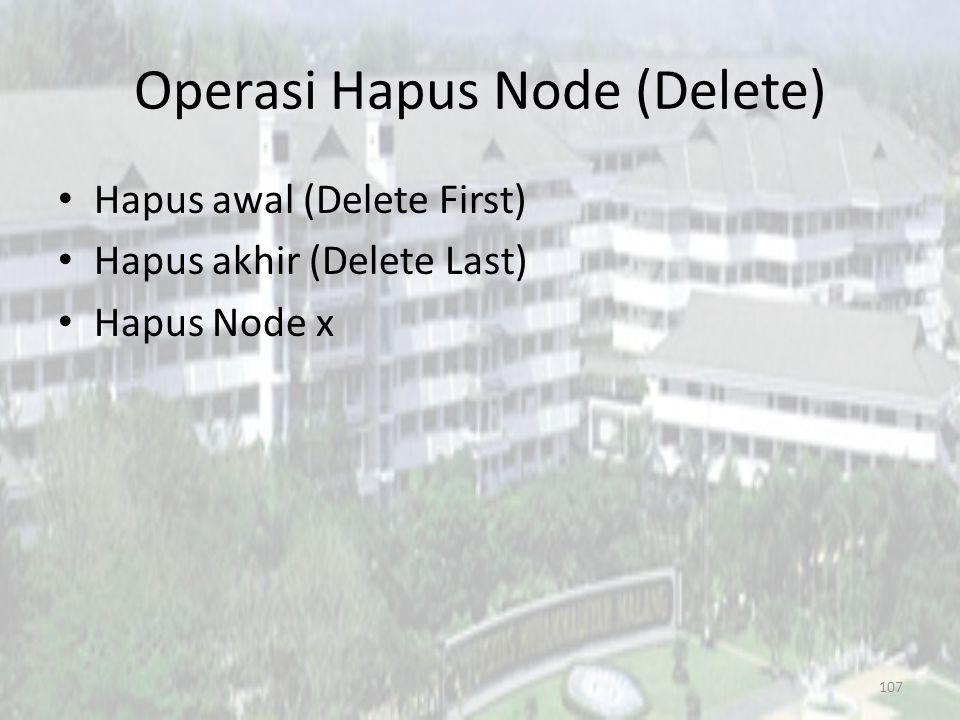 Operasi Hapus Node (Delete)