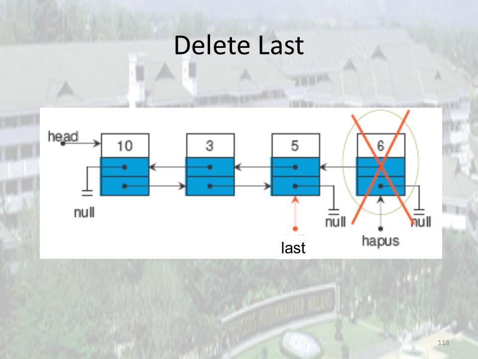 Delete Last last