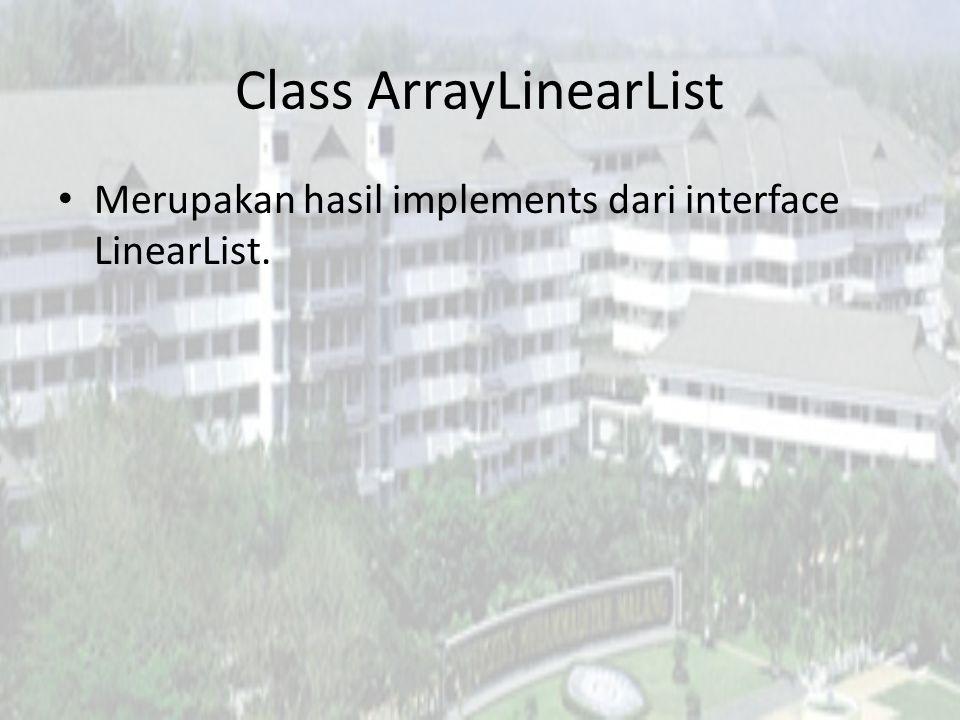 Class ArrayLinearList