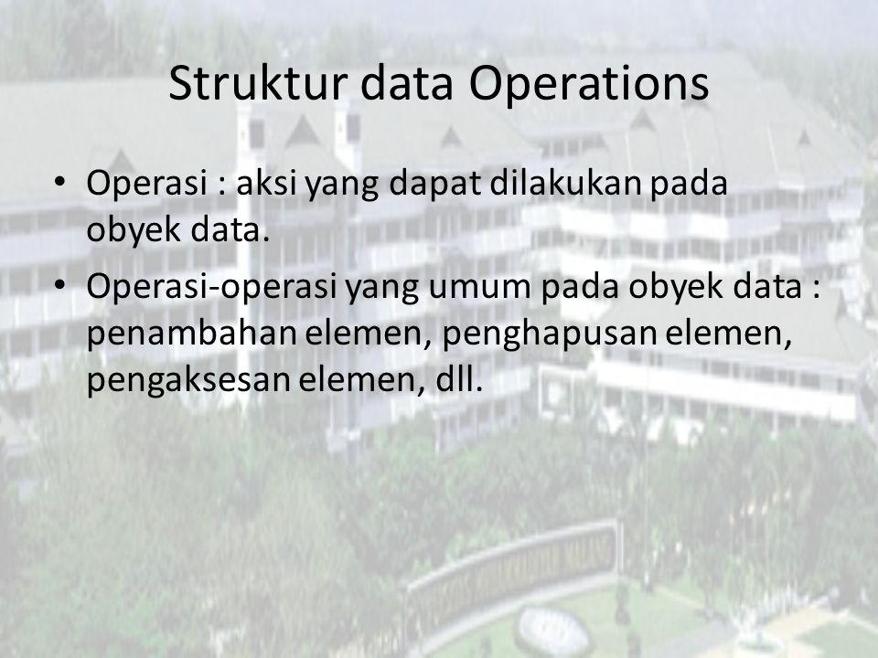 Struktur data Operations