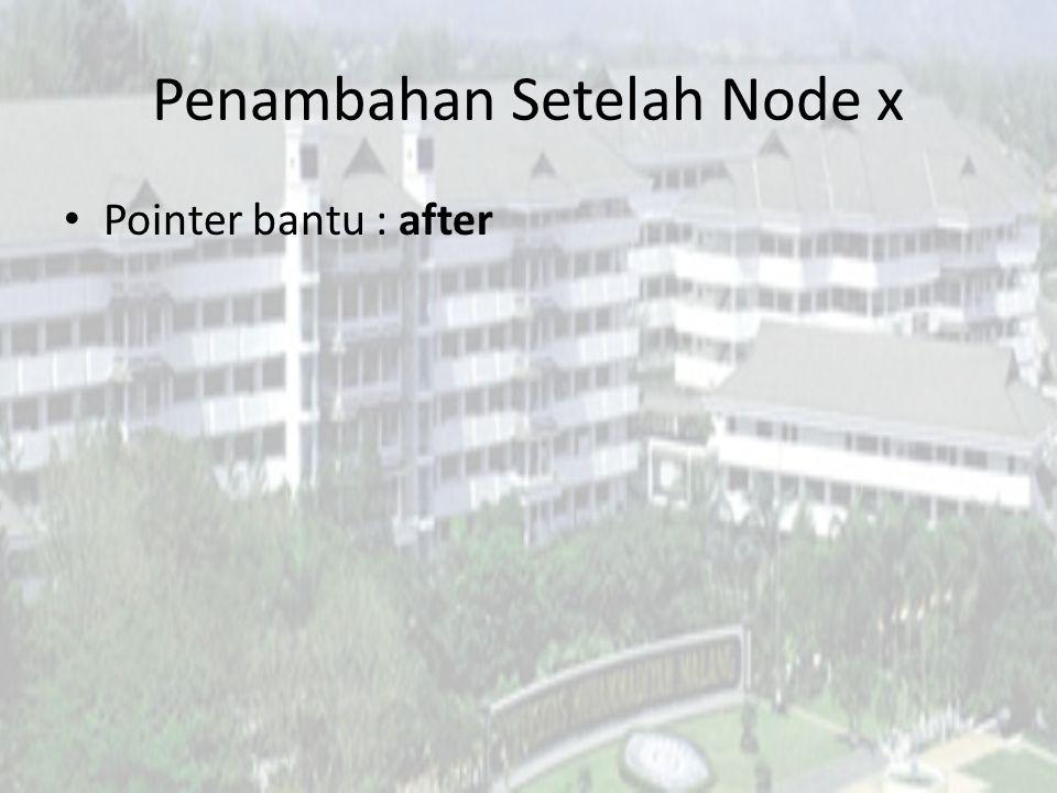 Penambahan Setelah Node x