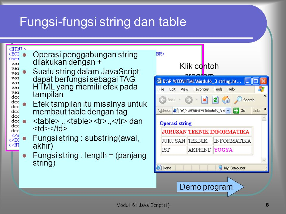 Fungsi-fungsi string dan table