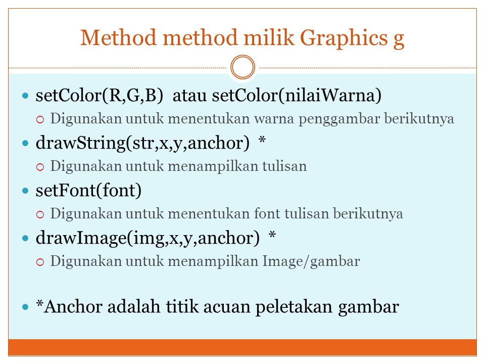 Method method milik Graphics g