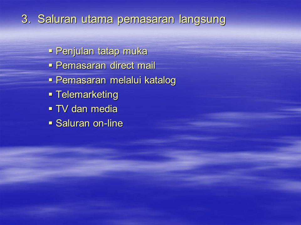 3. Saluran utama pemasaran langsung