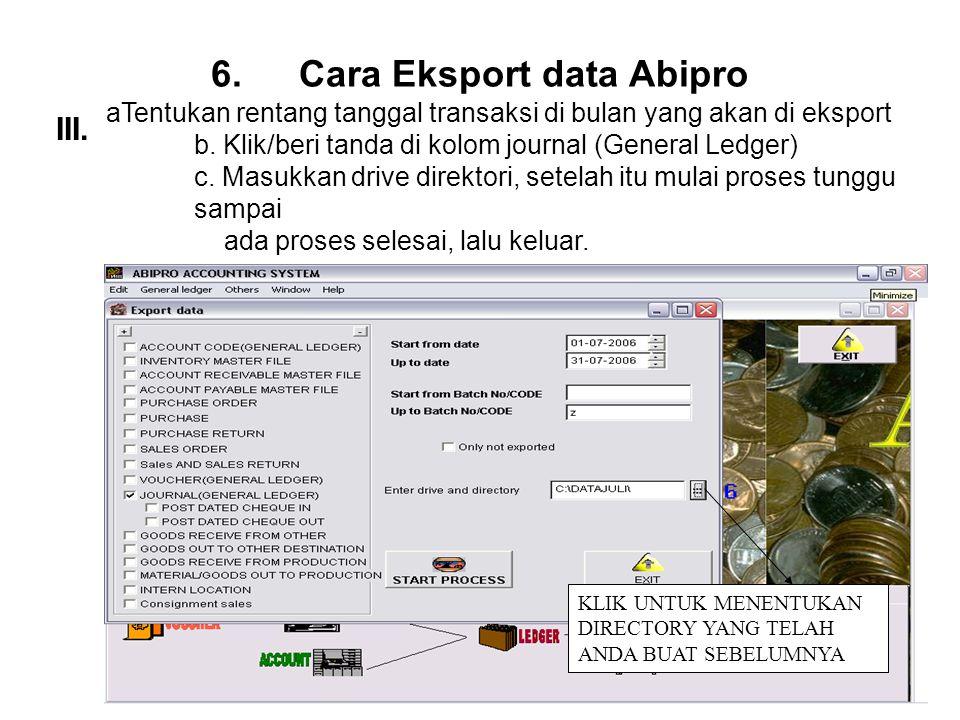 Cara Eksport data Abipro