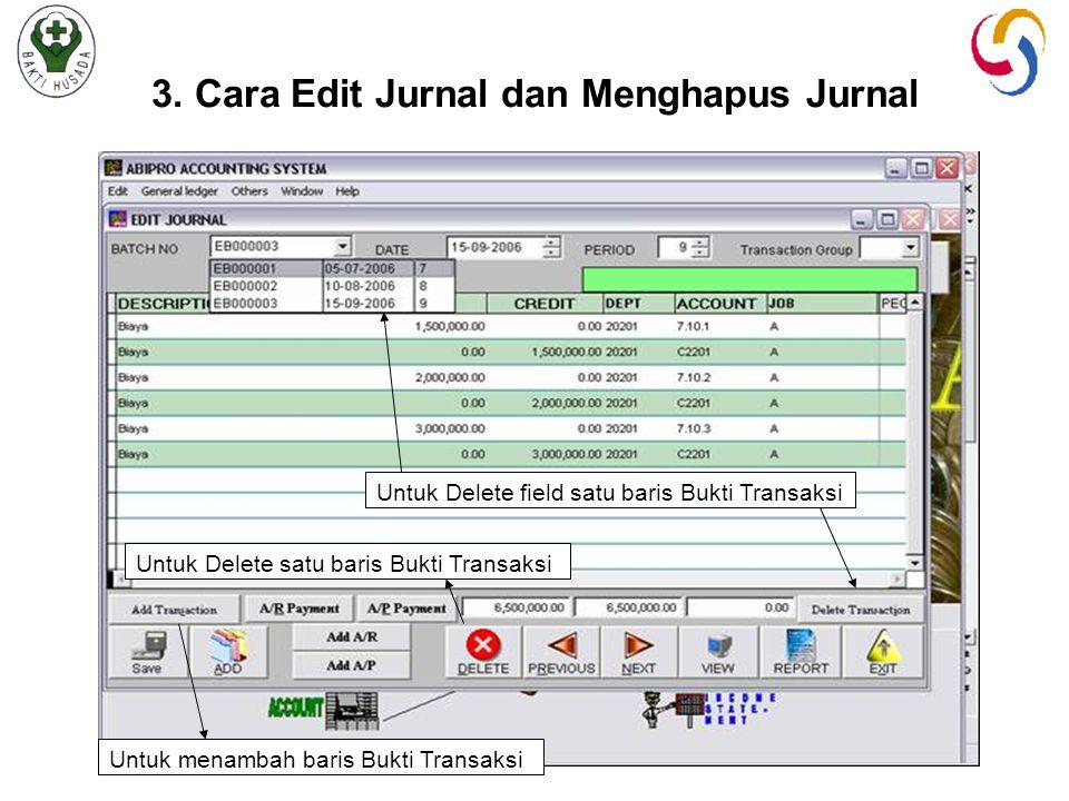 3. Cara Edit Jurnal dan Menghapus Jurnal