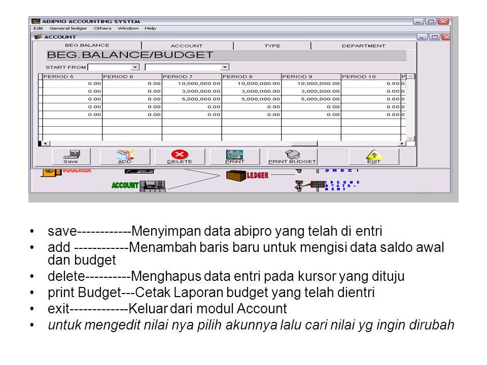 save------------Menyimpan data abipro yang telah di entri
