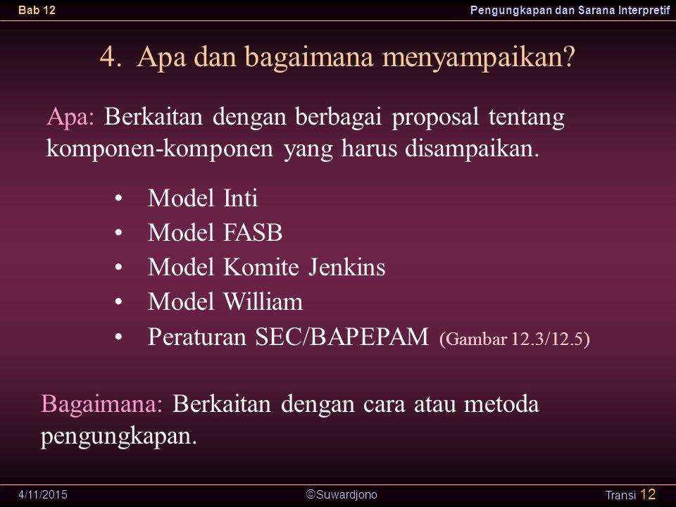 4. Apa dan bagaimana menyampaikan